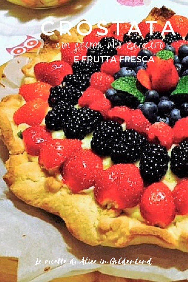 Crostata con crema allo zenzero e frutta fresca